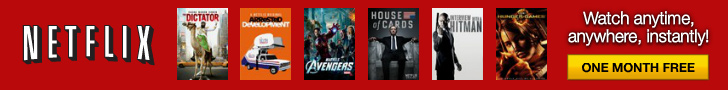 Netflix promotional banner House of Cards Avengers Dictator Arrested Development Hitman Hunger Games