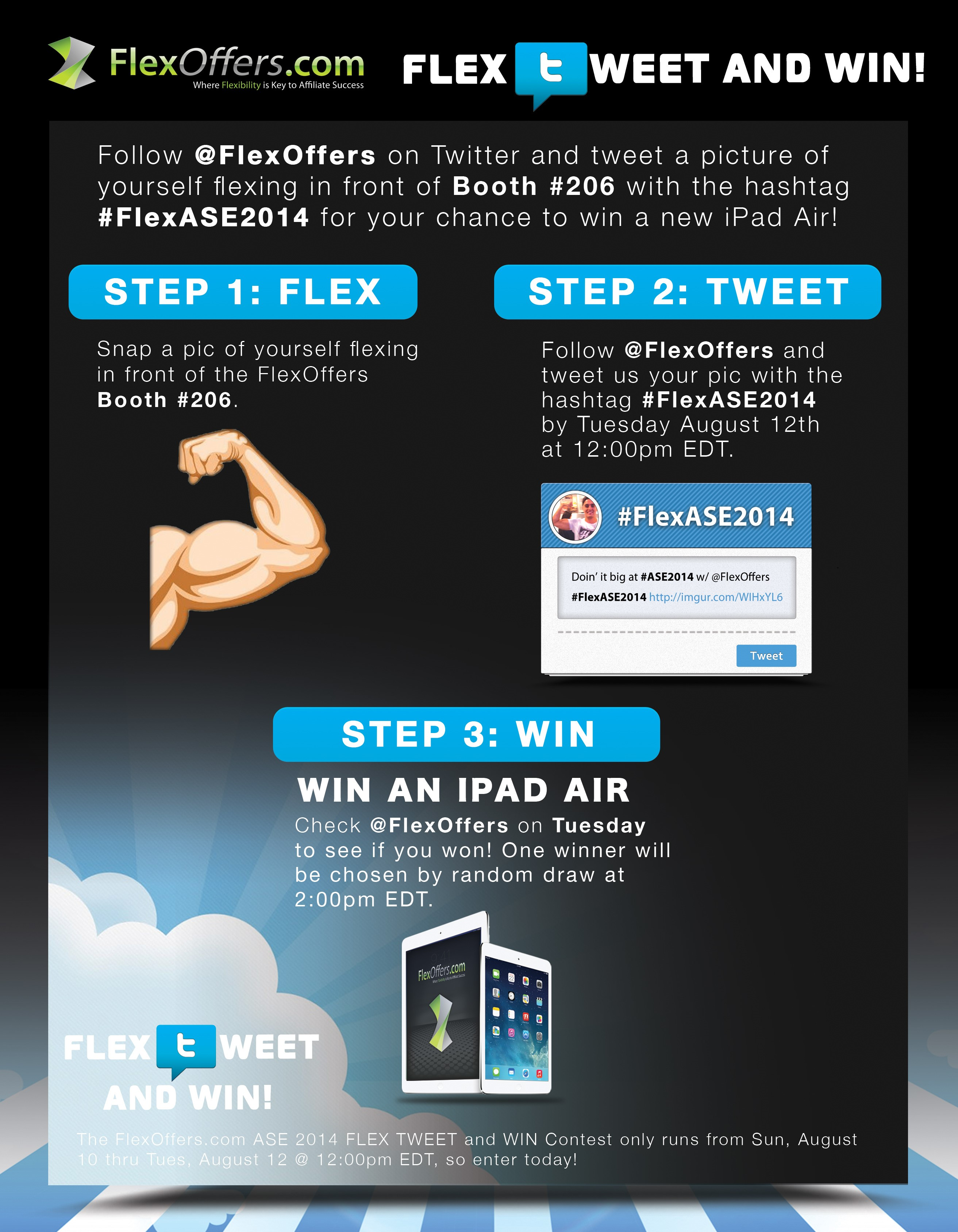 Affiliate Summit East 2014 New York ASE2014 NY FlexOffers FlexOffers.com Flex Tweet and Win Twitter Contest iPad Air