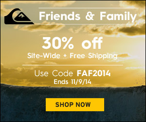 Quiksilver.com FlexOffers.com affiliate marketing sales promotional discount banner deals blog