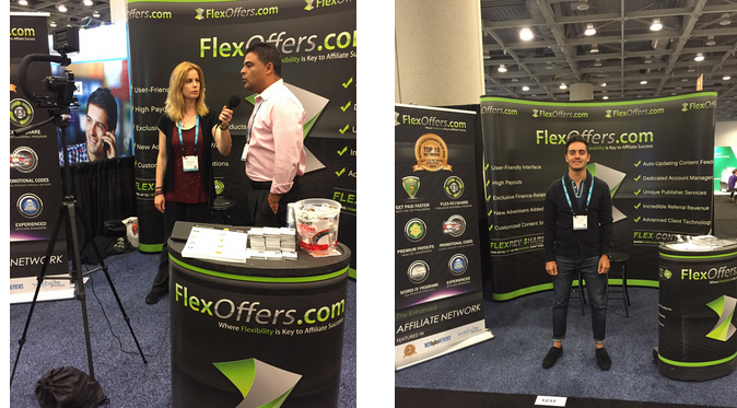 FlexOffers.com affiliate marketing sales promotional discount banner savings deals ad:tech San Francisco 2015