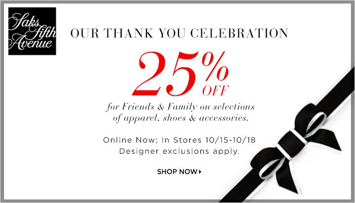 Where Can You Get a Saks Fifth Avenue Coupon