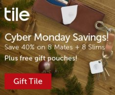 FlexOffers.com, affiliate, marketing, sales, promotional, discount, savings, deals, bargain, banner, blog, Find What Matters with Tile, Tile, tech, Bluetooth, Cyber Monday