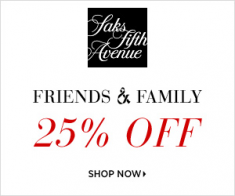 FlexOffers.com, affiliate, marketing, sales, promotional, discount, savings, deals, bargain, banner, blog, Designer Style Deals at the Saks Fifth Avenue Friends & Family Sale, Saks Fifth Avenue, Friends & Family, spring, clothing, fashion, designer, apparel