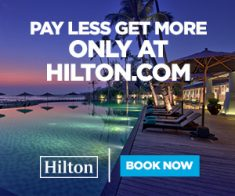 FlexOffers.com, affiliate, marketing, sales, promotional, discount, savings, deals, bargain, banner, blog, Pay Less and Get More with Hilton Hotels, Hilton Hotels, Hilton, vacation, travel, hotels, winter, spring, spring break, family, business, professionals, meetings