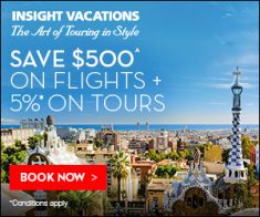 FlexOffers.com, affiliate, marketing, sales, promotional, discount, savings, deals, bargain, banner, blog, Top Tier Insight Vacations Offers, Insight Vacations, travel, vacation, luxury, tour, escorted